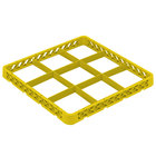 Vollrath TRF-08 Traex® Full-Size Yellow 9 Compartment Glass Rack Extender