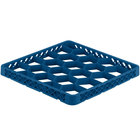 Vollrath TRG-44 Traex® Full-Size Royal Blue 20 Compartment Glass Rack Extender
