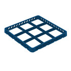 Vollrath TRF-44 Traex® Full-Size Royal Blue 9 Compartment Glass Rack Extender