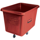 Rubbermaid FG461200RED Red 12 Cu. Ft. Bulk Cube Truck (400 lb.)