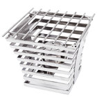 """Eastern Tabletop 1715 Escalate Series 10"""" x 10"""" x 9"""" Stainless Steel Eight Rung Riser with Cooking Grate and Sterno"""