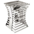 """Eastern Tabletop 1720 Escalate Series 10"""" x 10"""" x 14"""" Stainless Steel Twelve Rung Riser with Cooking Grate and Sterno"""