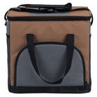 Choice Insulated Leak Proof Cooler Bag / Soft Cooler, Brown 12 inch x 9 inch x 11 1/2 inch, with Adjustable Shoulder Strap