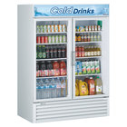 Turbo Air TGM-50RS-N 56 inch White Two Glass Door Refrigerated Merchandiser