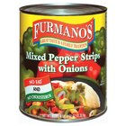 Furmano's Mixed Pepper Strips with Onions 6 - #10 Cans / Case