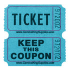 Carnival King Blue 2-Part Raffle Tickets - 2000/Roll