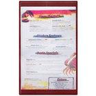 Menu Solutions K22D BURG K22-Kent 8 1/2 inch x 14 inch Single Panel / Double-Sided Burgundy Menu Board