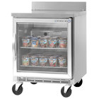 Beverage Air WTF27A-25-LED 27 inch Single Glass Door Worktop Freezer - 7.3 cu. ft.