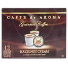 Caffe de Aroma Hazelnut Cream Coffee Single Serve Cups - 12/Box