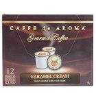 Caffe de Aroma Caramel Cream Coffee Single Serve Cups   - 12/Box