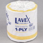 Lavex Janitorial Individually-Wrapped 1-Ply Standard 1000 Sheet Toilet Paper Roll - 24/Pack
