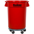 Continental 32 Gallon Red Trash Can, Lid, and Dolly Kit