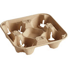 Biodegradable, Compostable Cup Carrier Trays