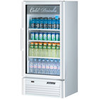 Turbo Air TGM-10SD White 26 inch Super Deluxe Single Door Refrigerated Merchandiser - 9.3 Cu. Ft.