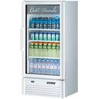 Turbo Air TGM-10SD Super Deluxe Series 26 inch White Single Glass Door Refrigerated Merchandiser