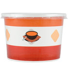 Choice 12 oz. Double Poly-Coated Paper Soup / Hot Food Cup with Plastic Lid - 25/Pack