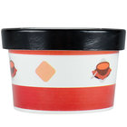 Choice 8 oz. Double-Wall Poly Paper Soup / Hot Food Cup with Vented Paper Lid - 25/Pack