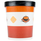 Choice 32 oz. Double Poly-Coated Paper Soup / Hot Food Cup with Vented Paper Lid - 25/Pack