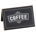 Cal-Mil 3047-1 Chalkboard Beverage Sign with Coffee Print - 3 inch x 2 inch x 2 inch