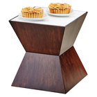 Cal-Mil 3029-57L Espresso Riser with Underlit Frosted Top - 12 inch x 12 inch x 12 inch