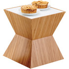 Cal-Mil 3029-60 Bamboo Riser with Corian Top - 12 inch x 12 inch x 12 inch