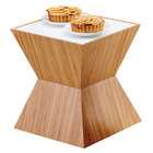 Cal-Mil 3029-60L Bamboo Riser with Underlit Frosted Top - 12 inch x 12 inch x 12 inch