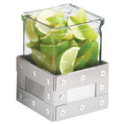 Cal-Mil 3405-3-55 Urban 3 inch Stainless Steel Riser with Glass Jar