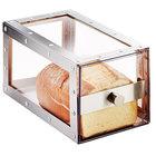 Cal-Mil 3410-55 Urban Stainless Steel Single Loaf Bread Display