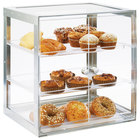 Cal-Mil 3413-55 Urban 3 Tier Stainless Steel Bakery Display Case