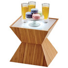 Cal-Mil 3028-60L Bamboo Riser with Underlit Frosted Top - 10 1/2 inch x 10 1/2 inch x 8 inch