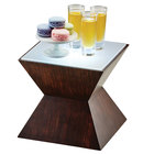Cal-Mil 3028-57L Espresso Riser with Underlit Frosted Top - 10 1/2 inch x 10 1/2 inch x 8 inch