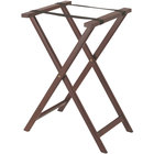 Aarco Mahogany Folding Wood Tray Stand - 31