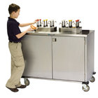 Lakeside 70270 Stainless Steel EZ Serve 12 Pump Condiment Cart - 27 1/2 inch x 50 1/4 inch x 47 inch