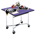 "Lakeside 413 Mobile Square Top Room Service Table with Purple Finish - 36"" x 36"" x 30"""
