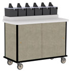 Lakeside 70520 Beige Suede Condi-Express 6 Pump Condiment Cart