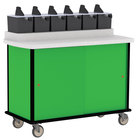 Lakeside 70520 Green Condi-Express 6 Pump Condiment Cart