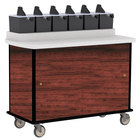Lakeside 70520 Red Maple Condi-Express 6 Pump Condiment Cart
