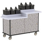 Lakeside 70550GS Gray Sand Condi-Express 6 Pump Dual Height Condiment Cart