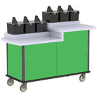 Lakeside 70550 Green Condi-Express 6 Pump Dual Height Condiment Cart