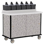 Lakeside 70520GS Gray Sand Condi-Express 6 Pump Condiment Cart