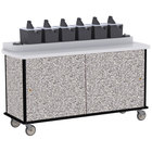 Lakeside 70530GS Gray Sand Condi-Express 6 Pump Condiment Cart with (2) Cup Dispensers