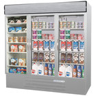Beverage Air MMRF72-1-SW-LED Market Max Stainless Steel Three Section Glass Door Dual Temperature Merchandiser - 72 Cu. Ft.