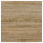 BFM Seating SO3636 Midtown 36 inch Square Indoor Tabletop - Sawmill Oak Finish