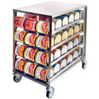 Lakeside 458 Stainless Steel Mobile #10 Can Rack - Half Size