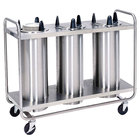 Lakeside 787 Open Base Stainless Steel Adjust-a-Fit Heated Three Stack Plate Dispenser for 6 1/2 inch to 9 3/4 inch Plates