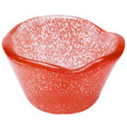 American Metalcraft ORSRR 2.5 oz. Red Round Organza Glass Sauce Cup
