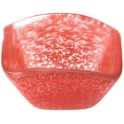 American Metalcraft ORSSR 2 oz. Red Square Organza Glass Sauce Cup
