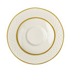 Homer Laughlin 1420-0328 Westminster Gothic Off White 4 1/2 inch China Saucer - 36/Case