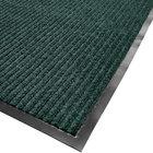 Cactus Mat 1485M-G34 3' x 4' Green Needle Rib Carpet Mat - 3/8 inch Thick