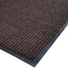 Cactus Mat 1485M-B48 4' x 8' Brown Needle Rib Carpet Mat - 3/8 inch Thick